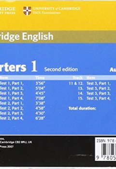 Cambridge Young Learners English Tests Starters 1 1 Audio CD