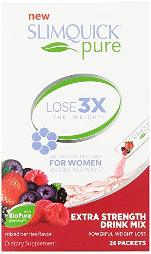 SLIMQUICK Pure Weight Loss Extra Strength Mixed Berry Drink Mix- 26 count
