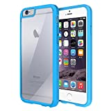 iPhone 6 Case, Maxboost® [Clear Cushion] iPhone 6 (4.7) Case Bumper [Lifetime Warranty] Seamless integrated Shock-Absorbing Bumper and Ultra Clear Back Panel Protective Cover - Stylish Retail Packaging - Slim Bumper Case for iPhone 6 (4.7 inch) (2014) - Moonstone Blue