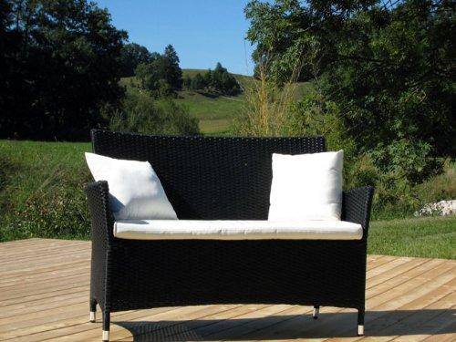 Exklusive 2-Sitzer Bank Classic Line schwarz perltwist