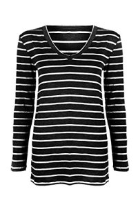 G2-Chic-Womens-Maternity-Basic-Long-Sleeve-Casual-Solid-Jersey-Tunic-V-Neck-Top