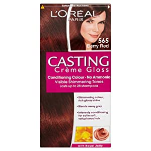 l oreal paris casting creme gloss hair colourant 565 berry red beauty