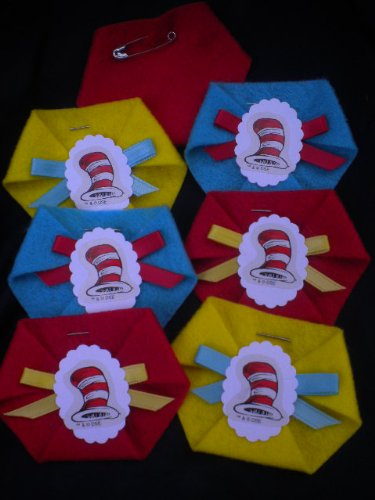 Dirty Diaper Game 24 pack Dr.Seuss cat in the hat baby shower game favors