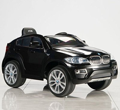 2016-Licensed-BMW-X6-12V-Kids-Boy-Girl-Ride-on-Power-Wheels-Battery-Toy-CarRemote-ControlLightsMusicBlack-Real-Paint-Limited-Time-Bonus-Leather-Seat