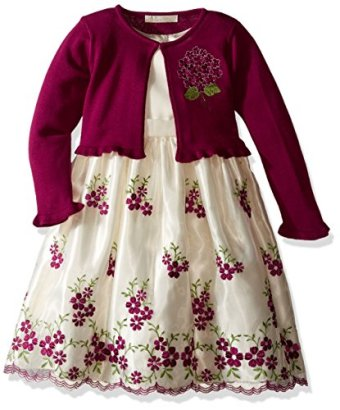 American-Princess-Girls-Embroidered-Sweater-Dress-with-Cardi