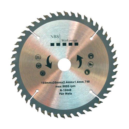 NBS Werkzeuge HM Hartmetall Kreissägeblatt 160 x 20 x 48 Zähne