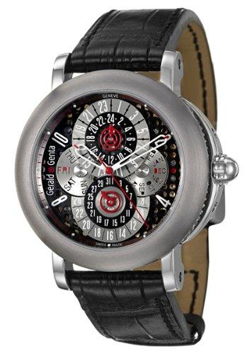 Gerald Genta Arena PC GMT Men's Automatic Watch AQG-Y-66-915-CN-BD