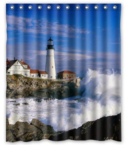 Lighthouse Shower Curtain Shop Everything Log Homes