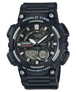 Casio AEQ-110W-1AVEF - Reloj de pulsera hombre, Resina, color Negro