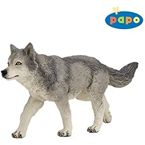 Papo 53012 Grey Wolf Figure Toys Amp Games