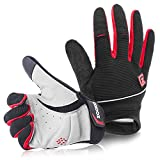 Zookki Cycling Gloves Mountain Bike Gloves Road Racing Bicycle Gloves Light Silicone Gel Pad Riding Gloves Touch Recognition Full Finger Gloves Men/Women Work Gloves