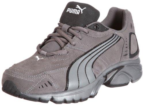 Puma Xenon Suede 185730, Unisex - Erwachsene, Sportschuhe - Running, Grau (steel grey-black-white 02), EU 45 (UK 10.5) (US 11.5)