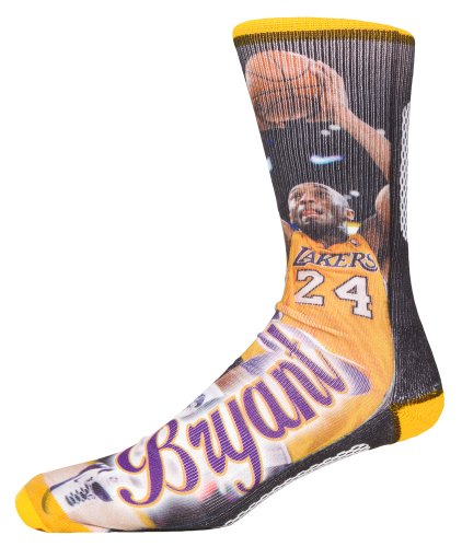 Kobe Bryant Los Angeles Lakers NBA Player Sublimation Crew Socks