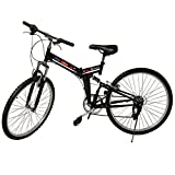 "Generic 26"" Folding 6 Speed Mountain Bike Bicycle Shimano School Sport Black"