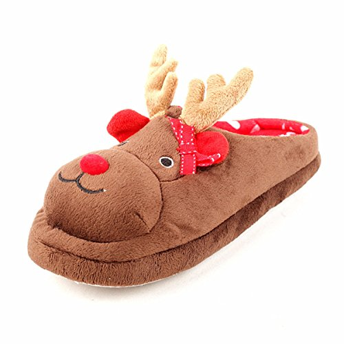 Christmas elk Soft Warm Home Slippers for Woman (US 7-11)