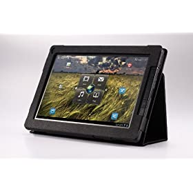 MoKo(TM) Folding Cover Case With Stand for Lenovo ThinkPad 10.1-Inch Android Tablet (Black)