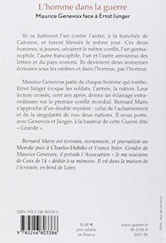Livres Couvertures de L'homme dans la guerre: Maurice Genevoix face à Ernst Jünger