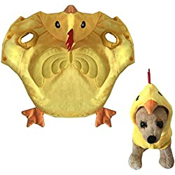 AWAMI Dog Halloween Costume Pet Rooster Costumes Winter Pet Party Clothes for Puppy Small Dogs Cats