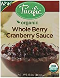 Pacific Natural Foods Organic Sauce, Whole Berry Cranberry, 15.6 Ounce (Pack of 12)