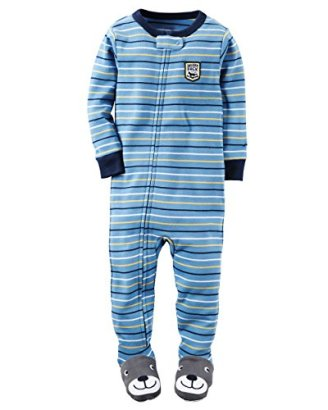Carters-Baby-Boys-Snug-Fit-Cotton-Footie-Pajamas-2T-Blue-Stripe-Leader-of-the-Pack