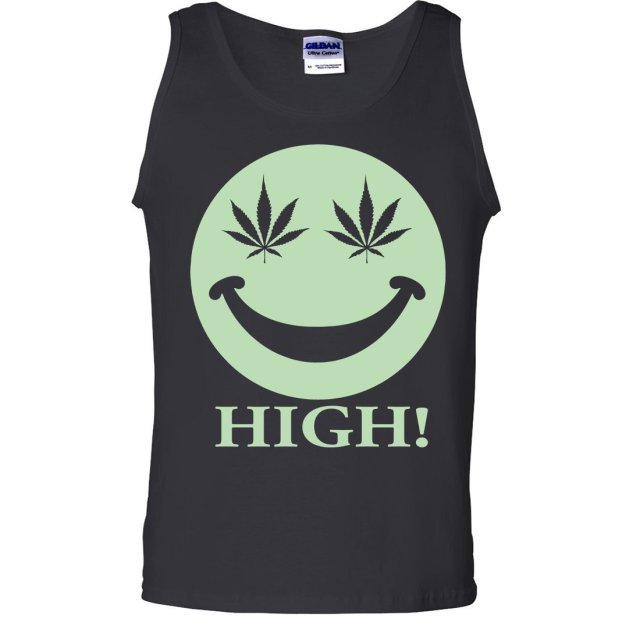 Dolphin Shirt Co Glow in the Dark Stoner Smiley Face Asst Colors Tank Top