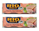 Rio Mare Tuna Fish Imported From Italy. Italy's Number 1 Tuna - The Best Imported Italian Tuna - 6 - 3 Oz - Cans Home Grocery Product