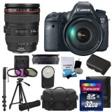 Canon-EOS-6D-202-MP-CMOS-Digital-SLR-Camera-with-30-Inch-LCD-and-Canon-Zoom-Wide-Angle-Telephoto-EF24-105mm-IS-f4-L-USM-Lens-Kit-UV-Filter-Kit-With-Extra-Battery-Tripod-Monopod-with-32GB-Complete-Delu