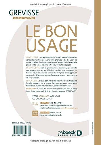 GREVISSE USAGE TÉLÉCHARGER BON PDF LE