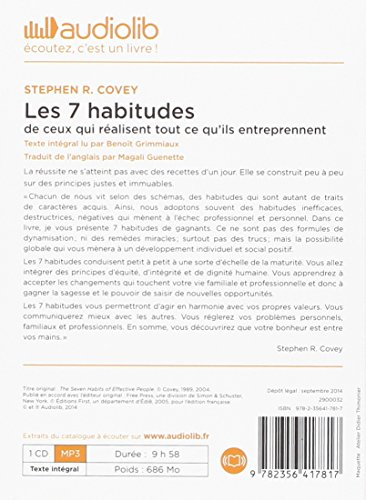 DE 7 COVEY STEPHEN HABITUDES LES TÉLÉCHARGER