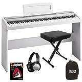 Korg SP-170s White Digital Piano HOME BUNDLE w/ Stand & Bench