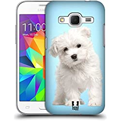 Head Case Designs Maltese Puppy Popular Dog Breeds Hard Back Case Cover for Samsung Galaxy Core Prime