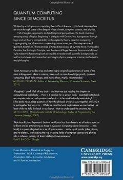 Livres Couvertures de Quantum Computing since Democritus