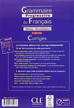 Livres Couvertures de Grammaire progressive du français - Niveau intermédiaire - Corrigés - 3ème édition