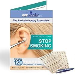 Stop Smoking Ear Seed Kit- 120 Ear Seeds, Stainless Steel Tweezer