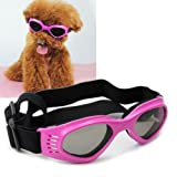 Pet Leso Doggles Goggles Stylish Doggie Puppy Sunglasses Windproof - Pink