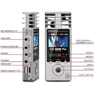 ズーム 高画質&高音質ハンディビデオレコーダー Q3HD