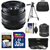 Fujifilm-14mm-f28-XF-R-Lens-with-32GB-Card-3-UVCPLND8-Filters-Case-Tripod-Kit-for-X-A2-X-E2-X-E2s-X-M1-X-T1-X-T10-X-Pro2-Cameras