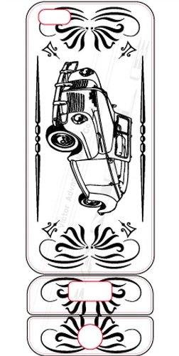 ビクターアドバンストメディア iPhone5/5S デザイナーズデコレーションシール KL-I5CAR-W