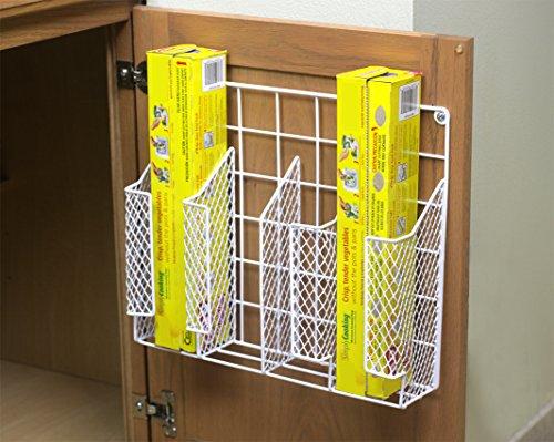 Kitchen Wrap Organizer Storage Foil Shelf Rack Wall Mount Door Cabinet