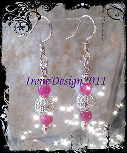 Pink Alexandrite & Silver Earrings