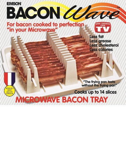 emson bacon wave microwave bacon cooker new hot suspoli plac