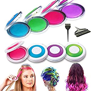 systemseleven 4pack hot huez hues non toxic temporary hair chalk dye soft pastels salon kit