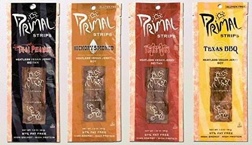 "Primal Strips Meatless Vegan Jerky- Signature Sampler; 3 Each by ""Primal Spirit Food, Inc."""