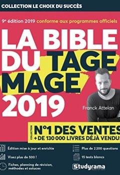 Livres Couvertures de La Bible du TAGE MAGE - 9e édition 2019 - Visez plus de 500 - Fiches - 15 Tests blancs - Plus de 2200 questions + Vidéos