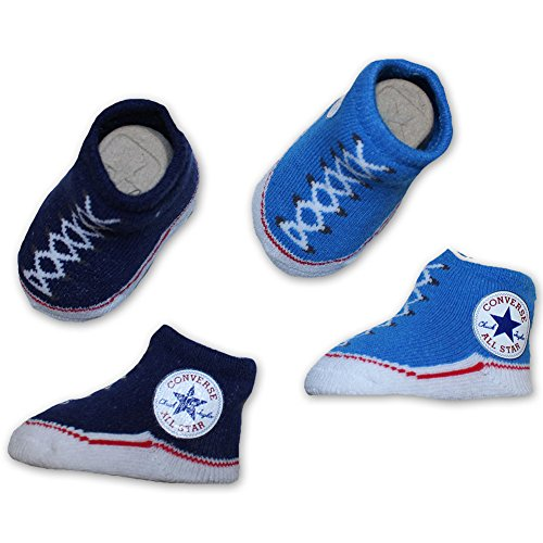 Converse Geschenkeset Socken 2 Paar blau/türkis 0-6 Month