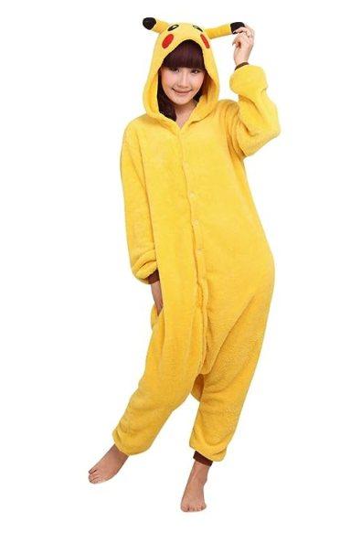 Amour - Sleepsuit Pajamas Costume Cosplay Homewear Lounge Wear (M, Pikachu)