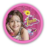 Beta-Service-el51723-Soy-Luna-Reloj-de-pared-25-cm-color-rosa