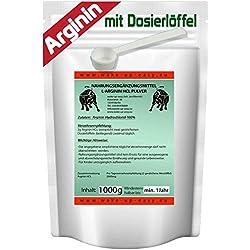 L- ARGININ PULVER 100% REIN NO-X BOOSTER, sehr gut löslich (HCL) 100g - 5Kg (1 Kilogramm)