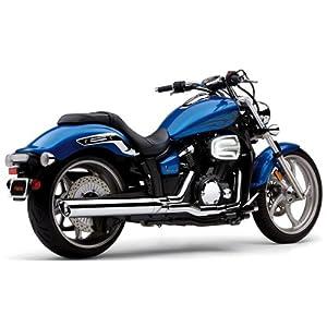 cobra scalloped billet tip 4 inch slip on muffler for 2011 yamaha xvs1300 stryker motorcycles motorcycle atv parts