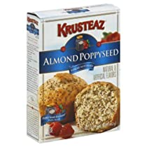 Krusteaz Almond Poppyseed Muffin Mix 17 oz - Pack of 12
